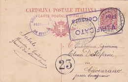 REGNO - CERVIGNANO (UDINE) - INTERO POSTALE C. 10 - VIAGGIATA PER CAVENZANO (UDINE) - Entiers Postaux