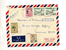 Lettre  Cachet Istanbul Sur Aviob President  Soldat - Lettres & Documents