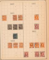 """Albert I / Houyoux / Lion Héraldique - Pages De Collection + Plaquette Préo """"Hasselt"""" (1921 > 30) / Cote 240e - Roller Precancels 1920-29"""