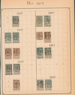 "Fine Barbe / Armoiries - Pages De Collection + Préo ""Huy (Nord)"" (1897 > 1907) / Cote 175e - Roller Precancels 1894-99"