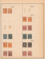 """Albert I / Houyoux / Lion Héraldique - Pages De Collection + Plaquettes Préo """"Huy... Hoei"""" (1911 > 30) - Roller Precancels 1920-29"""