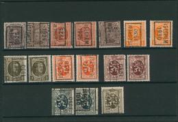 """Albert I / Houyoux / Lion Héraldique - Pages De Collection + Plaquette Préo """"Iseghem"""" (1925 > 30) / Cote 40e - Roller Precancels 1920-29"""