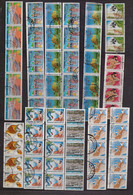 GREECE 1986-1994 52 VARIOUS SIZES STRIPS USED STAMPS ALL WITHOUT PERFORATION - Gebruikt