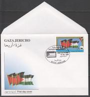 XX953 1995 PALESTINE GAZA JERICHO FLAGS OVERPRINT FDC - Andere