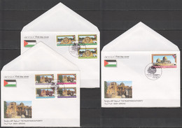 XX955 1995 PALESTINE GAZA JERICHO ARCHITECTURE OVERPRINT FDC - Andere