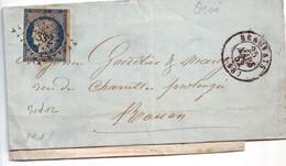 19 13A  Lettre Avec N°4 1852 Obl Beauvais - 1849-1850 Ceres