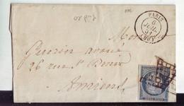 22  13A  Lettre Avec N°4 1851 Obl  Paris  à Amiens - 1849-1850 Ceres