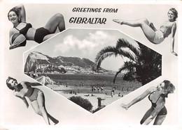 Greetings From GIBRALTAR, Real Photo, Bathing Girls - Gibraltar
