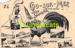 CPA DE HAAN LE COQ SUR MER BON SOUVENIR ( MIST HOEK !! MANQUE COIN ) - De Haan
