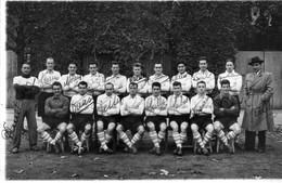 PHOTO De L'équipe De Football Du Racing-Club De PARIS,saison 1949-50 (avec Dédicaces). - Soccer