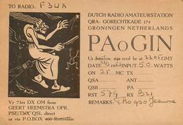 La SORCIERE Sur Son BALAIS - Cpa Illustrateur? Radio Amateur DES PAYS BAS - Other