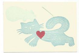 P6068 Illustrazione Illustration - Cartolina Illustrata A Mano Da Privato - Gatti Chat Kat Katze Cats / Non Viaggiata - Sin Clasificación