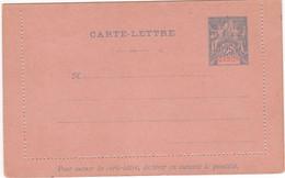 GABON Entier Postal Carte-lettre 25c Bleu Type GROUPE Neuf - Lettres & Documents