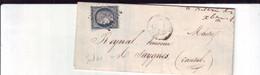 24  13A  Lettre Avec N°4 1852 Obl  De Versailles à Saysynes(?) - 1849-1850 Ceres