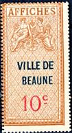 BEAUNE 10c Émission De 1937 Taxes D'affichage FISCAL FISCAUX AFFICHES REVENUE - Steuermarken