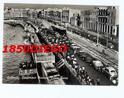 GALLIPOLI - LUNGOMARE MARCONI - CORSO ROMA  F/GRANDE VIAGGIATA  1961 ANIMATA CON TRAM - Lecce