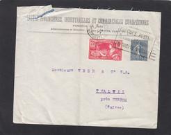 """LISTES FINANCIERES,INDUSTRIELLES ET COMMERCIALES EUROPEENES,PARIS.  AVEC TIMBRES """"VII OLYMPIADE/SEMEUSE 50 C.""""1924. - Brieven En Documenten"""