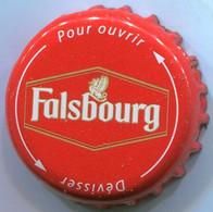 CAPSULE-BIERE-FRA-BRASSERIE KALSBERG HOLDING-FALSBOURG Twist Blanc & Or Fond Rouge - Beer