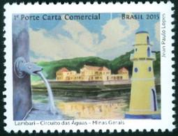 "BRAZIL 2015  - WATER FOUNTAIN -  LIGHTHOUSE - FARO  -   TOURISM - CITY OF ""LAMBARI"" -   MINT - Unused Stamps"
