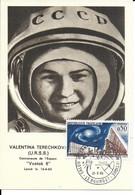 ESPACE FRANCE 1965 LE BOURGET SALON AERONAUTIQUE CARTE VALENTINA TERECHKOVA - Europe