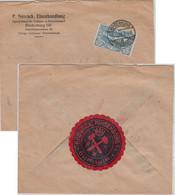 Oberschlesien - 60 Pfg. Freimarken Firmenbrief Hindenburg - Kassel 15.12.21 - Coordination Sectors