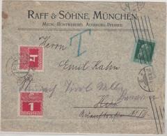 Bayern/Österreich - 5 Pfg.Luitpold Ortsbrief/Nachsendung München - Steinach 1912 - Bavaria