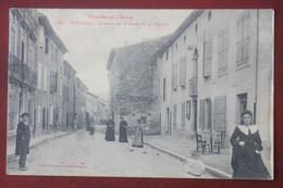CPA  11....  Esperaza , Avenue De La Gare , Animée - Otros Municipios
