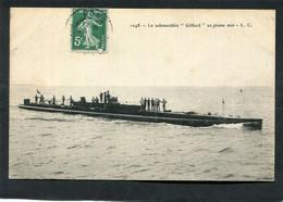 "CPA - Le Submersible ""GIFFARD"" En Pleine Mer, Animé - Sottomarini"