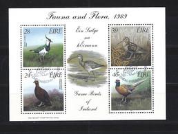 1989 Game Birds Of Ireland  Souvenir Sheet Cancelled - Blocchi & Foglietti