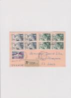 LETTRE AR AVION DEPART SAINT DENIS POUR LENS (PAS DE CALAIS) 1966 - 1961-....