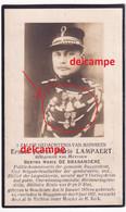 Oorlog Guerre Ernest Lampaert Boekhoute Rijkswacht Gendarm Police En Overleden Te Buggenhout 1927 Politie Oudstrijder Wo - Images Religieuses