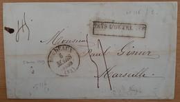 Pays D'outremer Bordeaux 1839 (Gironde) - De Batavia - Schiffspost