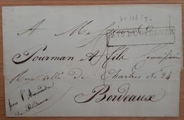 Pays D'outremer Bordeaux 1837 (Gironde) - De Santiago - Schiffspost