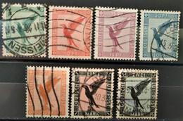 ALLEMAGNE - 1926 Poste Aérienne N°27/33 O (voir Scan) - Posta Aerea