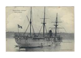CTH -  Vaisseau Ecole Bretagne (rade De Brest) Voyagée 1911 - Brest