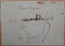32 COL Par BORDEAUX (Gironde) - 1798 - Schiffspost