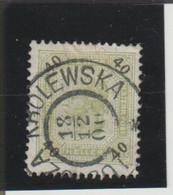 AUTRICHE EMPIRE ( Y&T) 1899-1902 - N°74 *    40h  (obli KROLEWSKA) - Gebruikt