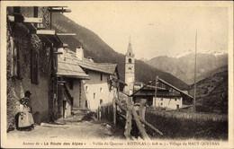 CPA Ristolas Hautes Alpes, Vallée Du Queyras, Village Du Haut Queyras, Kirche - Sonstige Gemeinden