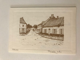 Carte Ancienne  (1993) Dessin à La Plume De Ronald DIEU Numéroté 183/500 - Lithographies