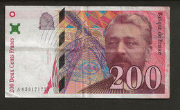 FRANCE / Billet De 200 Francs Gustave Eiffel 1997  A 053171775 - 200 F 1995-1999 ''Eiffel''
