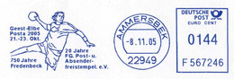 420  Hand-Ball: Ema D'Allemagne, 2005  -  Handball Meter Stamp From Germany - Balonmano