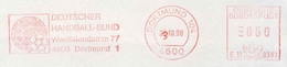 420  Hand-Ball: Ema D'Allemagne, 1990  -  Handball Meter Stamp From Germany - Balonmano