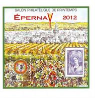 45  13A  Feuillet Souvenir Epernay  2012 - CNEP