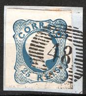 Portogallo 1856 25r. Unif.11 O/Used VF/F - Gebraucht