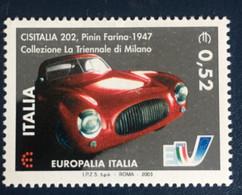 2003 - Italia - Europalia- CEPT - Cisitalia 202 - Pininfarina 1947 -  - Euro 0,52 - A1 - 2001-10: Mint/hinged