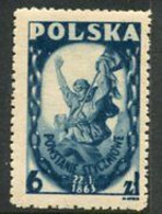 POLAND 1946 January Insurrection Of 1863 MNH / **.  Michel 427 - Nuovi