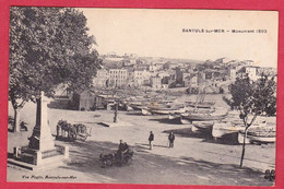 AA474 66 PYRENEES ORIENTALES BANYULS SUR MER MONUMENT 1893 BARQUES CATALANES VEUVE PAGES ATTELAGE ANE CHARETTE A ANE - Banyuls Sur Mer