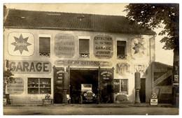 47  LAVARDAC  GARAGE ROYER  -  REPARATIONS   -  NOMBREUSES PUBLICITES  -   CARTE PHOTO 1929   - RARE - Lavardac