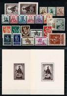 1942 Volledig Jaar Incl. Blokken En Zegels Uit Blokken - POSTFRIS - Full Years