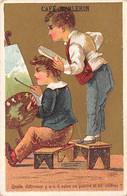 Chromos.AM14202.Café Barlerin.6x9 Cm Environ.Quelle Différence Y A T-iil Entre Un Peintre Et Un Coiffeur - Tea & Coffee Manufacturers